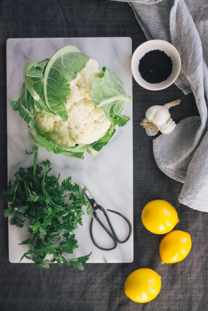 Cauliflower with Tahini Sauce