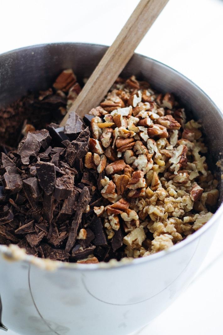 Luxury Dark Chocolate and Nut Cookies