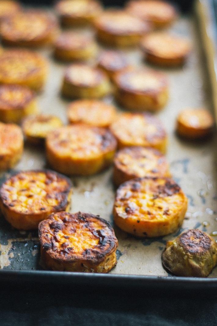 Roasted Sweet Potato with Chipotle Mayo