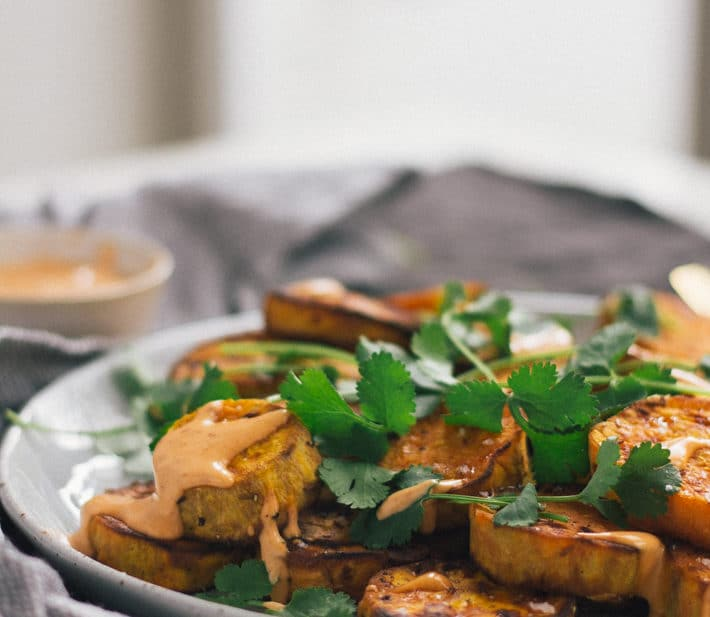 Roasted Sweet Potato with Chipotle Mayo